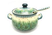 Ceramika Artystyczna Polish Pottery Covered Tureen and Ladle Set - Unikat Signature - U803 S19-U0803 (Ceramika Artystyczna)