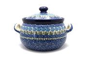 Ceramika Artystyczna Polish Pottery Covered Tureen (without ladle slot) - Antique Rose 090-1390a (Ceramika Artystyczna)