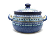 Ceramika Artystyczna Polish Pottery Covered Tureen (without ladle slot) - Aztec Sky 090-1917a (Ceramika Artystyczna)