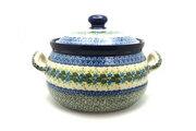 Ceramika Artystyczna Polish Pottery Covered Tureen (without ladle slot) - Ivy Trail 090-1898a (Ceramika Artystyczna)