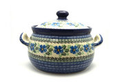 Ceramika Artystyczna Polish Pottery Covered Tureen (without ladle slot) - Morning Glory 090-1915a (Ceramika Artystyczna)