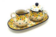 Ceramika Artystyczna Polish Pottery Cream & Sugar Set - Buttercup 422-2225a (Ceramika Artystyczna)