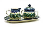 Ceramika Artystyczna Polish Pottery Cream & Sugar Set - Ivy Trail 422-1898a (Ceramika Artystyczna)