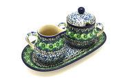 Ceramika Artystyczna Polish Pottery Cream & Sugar Set - Kiwi 422-1479a (Ceramika Artystyczna)