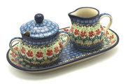 Ceramika Artystyczna Polish Pottery Cream & Sugar Set - Maraschino 422-1916a (Ceramika Artystyczna)