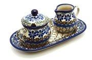 Ceramika Artystyczna Polish Pottery Cream & Sugar Set - Primrose 422-854a (Ceramika Artystyczna)