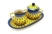 Ceramika Artystyczna Polish Pottery Cream & Sugar Set - Sunburst 422-859a (Ceramika Artystyczna)