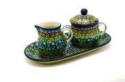 Ceramika Artystyczna Polish Pottery Cream & Sugar Set - Unikat Signature - U151 422-U0151 (Ceramika Artystyczna)
