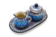 Ceramika Artystyczna Polish Pottery Cream & Sugar Set - Unikat Signature U408C 422-U408C (Ceramika Artystyczna)