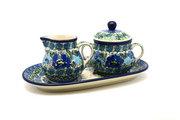Ceramika Artystyczna Polish Pottery Cream & Sugar Set - Unikat Signature - U4520 422-U4520 (Ceramika Artystyczna)