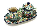Ceramika Artystyczna Polish Pottery Cream & Sugar Set - Unikat Signature U4600 422-U4600 (Ceramika Artystyczna)