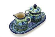 Ceramika Artystyczna Polish Pottery Cream & Sugar Set - Unikat Signature - U4629 422-U4629 (Ceramika Artystyczna)