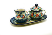 Ceramika Artystyczna Polish Pottery Cream & Sugar Set - Unikat Signature - U4695 422-U4695 (Ceramika Artystyczna)