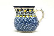 Ceramika Artystyczna Polish Pottery Creamer - 4 oz. - Daisy Maize 091-2178a (Ceramika Artystyczna)