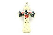 "Ceramika Artystyczna Polish Pottery Cross - Small (5"") - Christmas Pageant 613-1970a (Ceramika Artystyczna)"