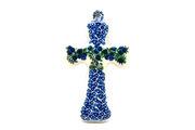 """Ceramika Artystyczna Polish Pottery Cross - Small (5"""") - Huckleberry 613-1413a (Ceramika Artystyczna)"""