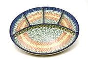 Ceramika Artystyczna Polish Pottery Dish - Divided Appetizer - Autumn 498-050a (Ceramika Artystyczna)