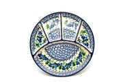 Ceramika Artystyczna Polish Pottery Dish - Divided Appetizer - Blue Berries 498-1416a (Ceramika Artystyczna)