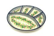 Ceramika Artystyczna Polish Pottery Dish - Divided Appetizer - Holly Berry 498-1734a (Ceramika Artystyczna)