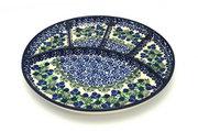Ceramika Artystyczna Polish Pottery Dish - Divided Appetizer - Huckleberry 498-1413a (Ceramika Artystyczna)