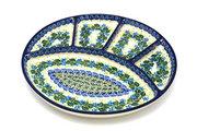 Ceramika Artystyczna Polish Pottery Dish - Divided Appetizer - Ivy Trail 498-1898a (Ceramika Artystyczna)