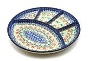 Ceramika Artystyczna Polish Pottery Dish - Divided Appetizer - Maraschino 498-1916a (Ceramika Artystyczna)