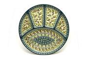 Ceramika Artystyczna Polish Pottery Dish - Divided Appetizer - Mint Chip 498-2195q (Ceramika Artystyczna)