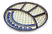 Ceramika Artystyczna Polish Pottery Dish - Divided Appetizer - Primrose 498-854a (Ceramika Artystyczna)