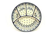 Ceramika Artystyczna Polish Pottery Dish - Divided Appetizer - Silver Lace 498-2158a (Ceramika Artystyczna)