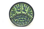 Ceramika Artystyczna Polish Pottery Dish - Divided Appetizer - Sweet Violet 498-1538a (Ceramika Artystyczna)