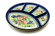 Ceramika Artystyczna Polish Pottery Dish - Divided Appetizer - Unikat Signature - U4400 498-U4400 (Ceramika Artystyczna)