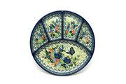 Ceramika Artystyczna Polish Pottery Dish - Divided Appetizer - Unikat Signature - U4600 498-U4600 (Ceramika Artystyczna)