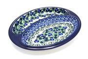Ceramika Artystyczna Polish Pottery Dish - Divided Polish Sausage - Huckleberry 497-1413a (Ceramika Artystyczna)