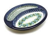 Ceramika Artystyczna Polish Pottery Dish - Divided Polish Sausage - Ivy Trail 497-1898a (Ceramika Artystyczna)