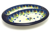 Ceramika Artystyczna Polish Pottery Dish - Divided Polish Sausage - Plum Luck 497-2509a (Ceramika Artystyczna)
