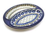 Ceramika Artystyczna Polish Pottery Dish - Divided Polish Sausage - Primrose 497-854a (Ceramika Artystyczna)