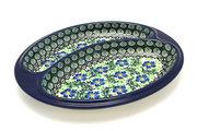 Ceramika Artystyczna Polish Pottery Dish - Divided Polish Sausage - Sweet Violet 497-1538a (Ceramika Artystyczna)