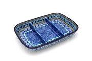 Ceramika Artystyczna Polish Pottery Dish - Divided Rectangular - Aztec Sky 393-1917a (Ceramika Artystyczna)
