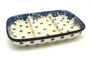 Ceramika Artystyczna Polish Pottery Dish - Divided Rectangular - Blue Bayou 393-1975a (Ceramika Artystyczna)