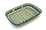 Ceramika Artystyczna Polish Pottery Dish - Divided Rectangular - Ivy Trail 393-1898a (Ceramika Artystyczna)