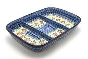 Ceramika Artystyczna Polish Pottery Dish - Divided Rectangular - Maraschino 393-1916a (Ceramika Artystyczna)