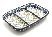 Ceramika Artystyczna Polish Pottery Dish - Divided Rectangular - Primrose 393-854a (Ceramika Artystyczna)