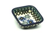 Ceramika Artystyczna Polish Pottery Dish - Food Prep - Blue Chicory 656-976a (Ceramika Artystyczna)