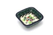 Ceramika Artystyczna Polish Pottery Dish - Food Prep - Burgundy Berry Green 656-1415a (Ceramika Artystyczna)