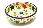 Ceramika Artystyczna Polish Pottery Dish - Round Food Prep - Star Studded B88-2258a (Ceramika Artystyczna)