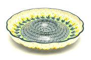 """Ceramika Artystyczna Polish Pottery Dish - Vegetable and Dip - 10"""" - Daffodil A22-2122q (Ceramika Artystyczna)"""