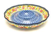 "Ceramika Artystyczna Polish Pottery Dish - Vegetable and Dip - 10"" - Maple Harvest A22-2533a (Ceramika Artystyczna)"