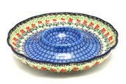 """Ceramika Artystyczna Polish Pottery Dish - Vegetable and Dip - 10"""" - Maraschino A22-1916a (Ceramika Artystyczna)"""