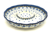 "Ceramika Artystyczna Polish Pottery Dish - Vegetable and Dip - 10"" - Silver Lace A22-2158a (Ceramika Artystyczna)"