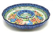 "Ceramika Artystyczna Polish Pottery Dish - Vegetable and Dip - 10"" - Unikat Signature - U3347 A22-U3347 (Ceramika Artystyczna)"